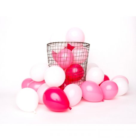 Mix 12 Mini Ballons de Baudruche Rose| Hollyparty