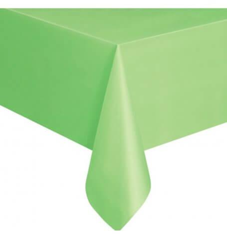 Nappe en Plastique Rectangulaire Vert| Hollyparty