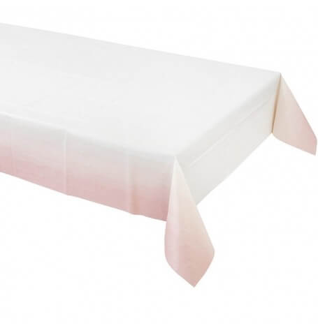 Nappe papier Rectangulaire Dégradé Rose | Hollyparty