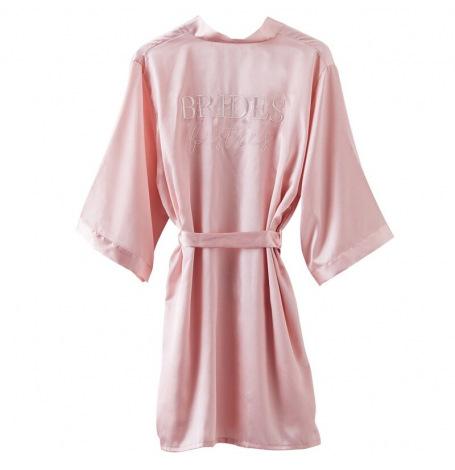 Peignoir EVJF  Bride To Be  Satin Rose Pastel - TU   Hollyparty