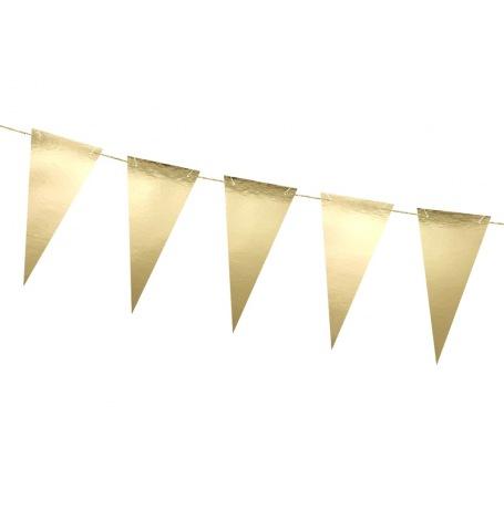 Petite Guirlande Fanion Drapeaux Or | Hollyparty