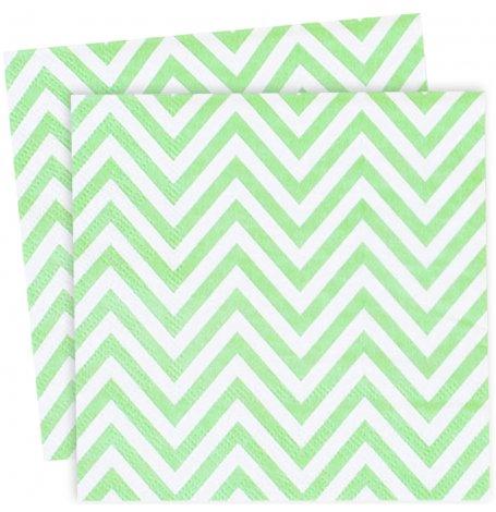 Petites Serviettes en papier Chevron Vert Pastel (x20)| Hollyparty