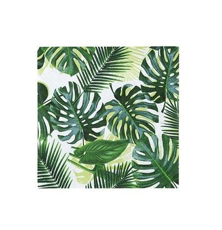 Petites Serviettes en papier Feuillage Tropicale (x20)| Hollyparty