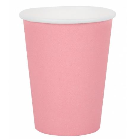 Petits gobelets en carton rose pastel (x6)| Hollyparty