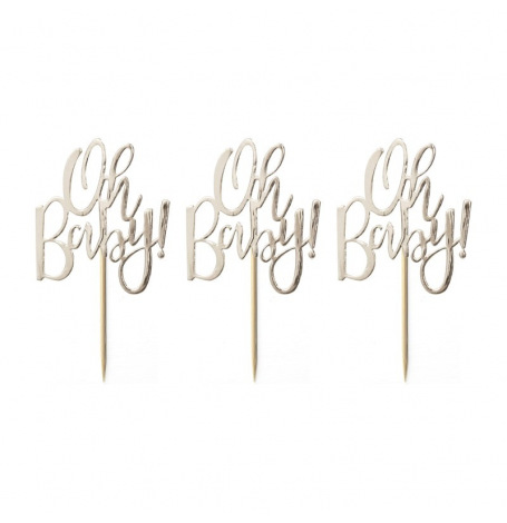 Pics à cupcake Oh Baby Doré (x12)| Hollyparty