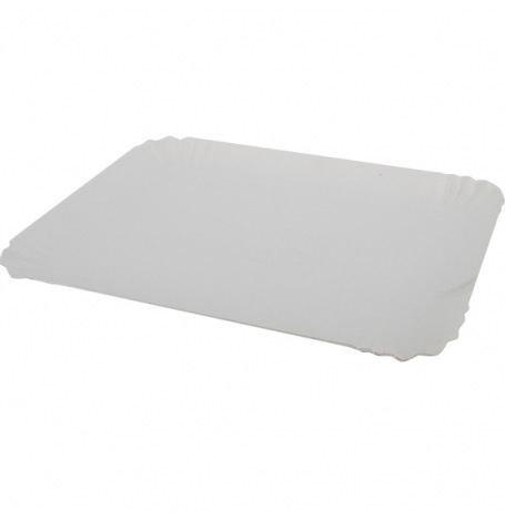 Plateaux rectangulaires Blanc (x2)| Hollyparty