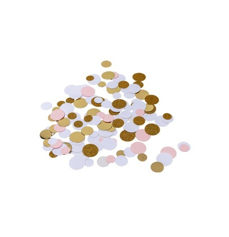 Poche Confettis de table Rose & Or| Hollyparty
