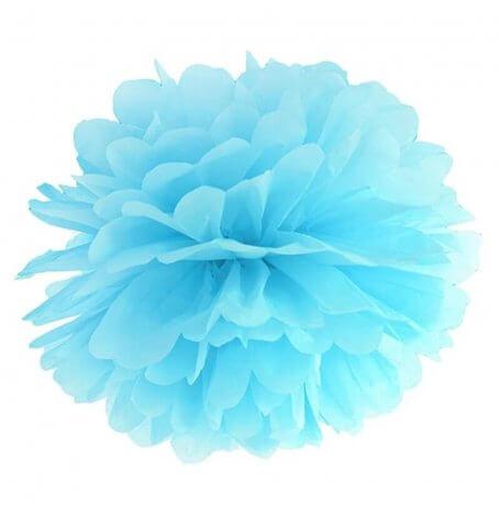Pompon en Papier de soie à suspendre Bleu Ciel | Hollyparty