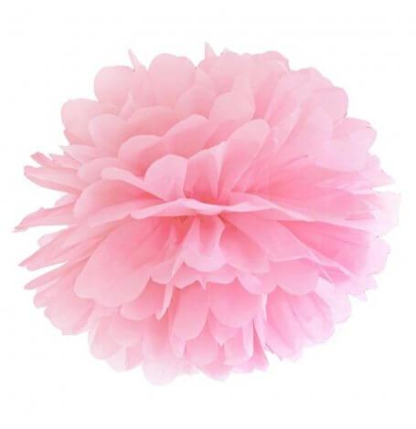 Pompon en Papier de soie à suspendre Rose Clair | Hollyparty