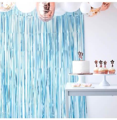 Rideau Backdrop scintillant Bleu| Hollyparty