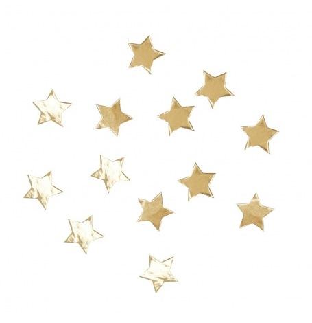 Sachet Confettis de table Etoiles Or Métallisé | Hollyparty