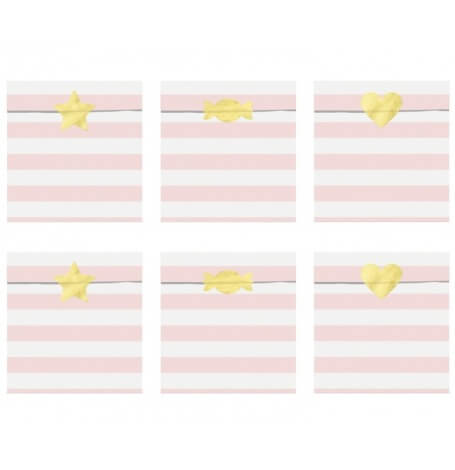 Sachets bonbons Rose Pastel (x6)| Hollyparty