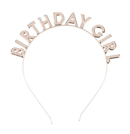 Serre Tête Birthday Girl Rose Gold   Hollyparty