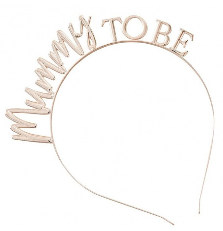 Serre tête Mummy to Be Rose Gold   Hollyparty