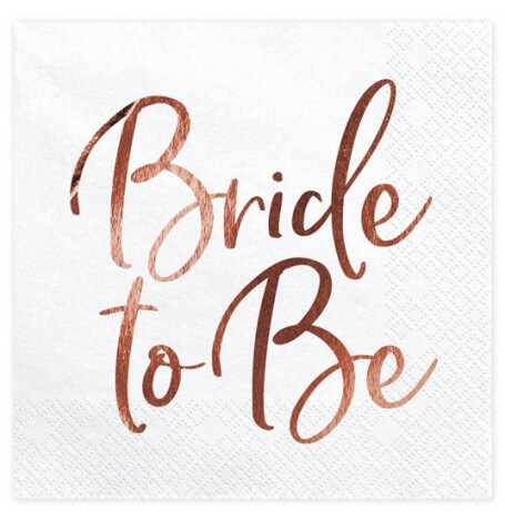 Serviettes en papier Bride to Be Rose Gold (x20)| Hollyparty