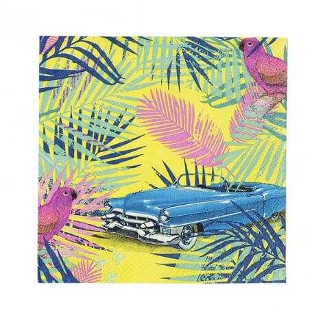 Serviettes en papier feuillage tropical (x20)| Hollyparty