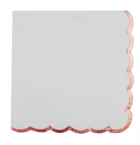 Serviettes en papier Lisière Rose Gold (x16)| Hollyparty