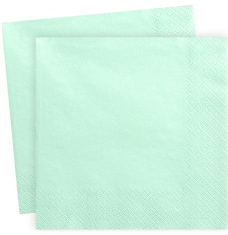 Serviettes en papier Mint Clair Uni (x20)| Hollyparty
