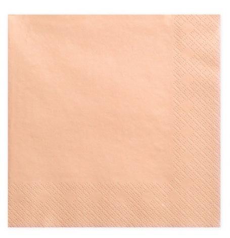 Serviettes en papier Pêche Uni (x20)  Hollyparty