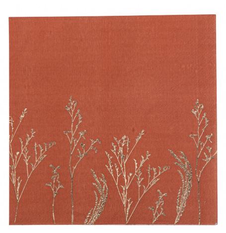 Serviettes en papier Pampa Terracotta (x16)  Hollyparty
