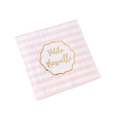 Serviettes en papier à Pois Rose & Or (x16)| Hollyparty