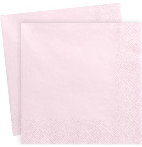Serviettes en papier Rose Clair Uni (x20)| Hollyparty