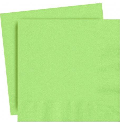 Serviettes en papier Vert Uni (x20)| Hollyparty