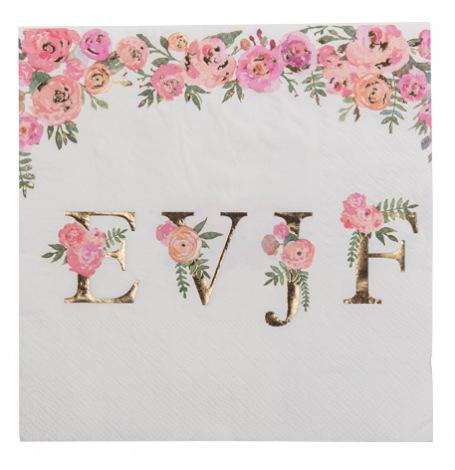 Serviettes papier Oui EVJF Floral & Or (x16)  Hollyparty