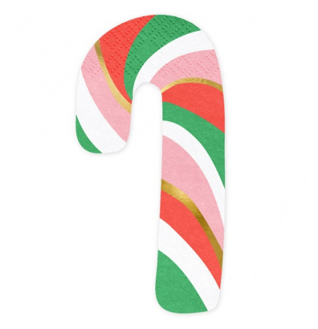 Serviettes Papier Sapin de Noel Rouge & Or (x16)| Hollyparty