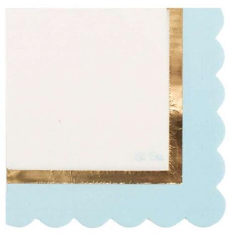 Serviettes Papier So Chic Bleu & Or (x16)| Hollyparty