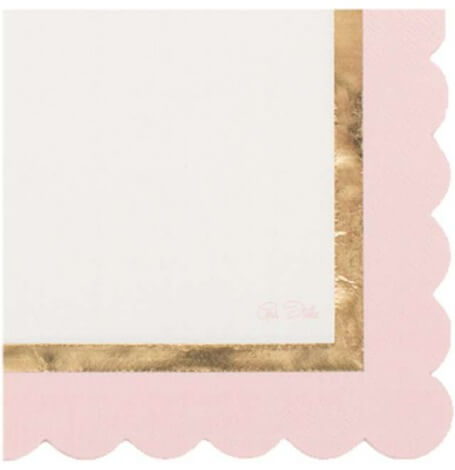 Serviettes Papier So Chic Rose & Or (x16)| Hollyparty