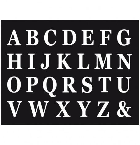 Set de 48 Lettres Adhésives Blanches H13.5cm| Hollyparty