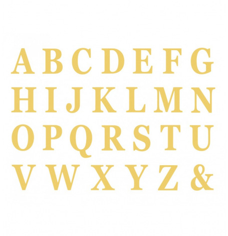 Set de 48 Lettres Adhésives Or H13.5cm| Hollyparty