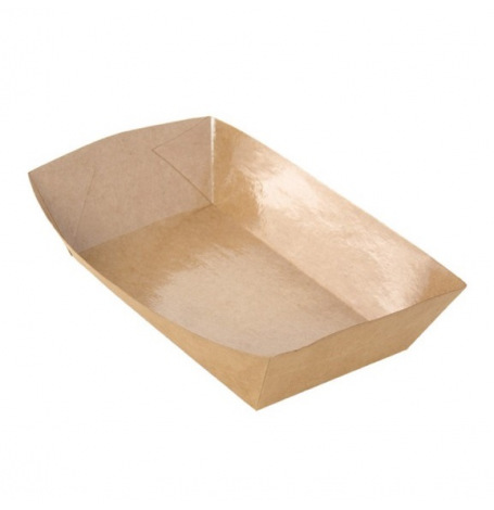 Set de 8 Barquettes alimentaires Kraft | Hollyparty