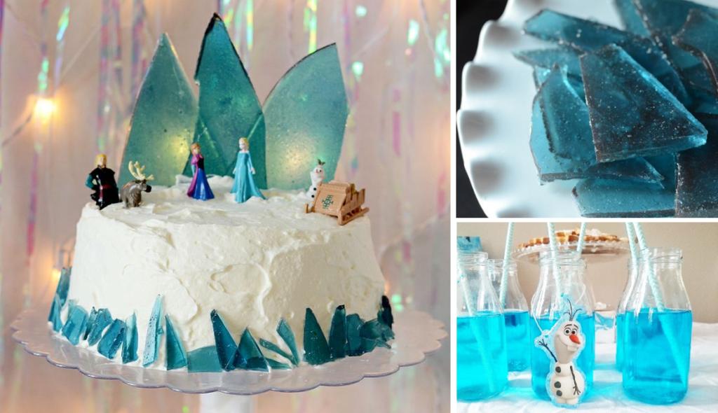 Gâteau d'anniversaire Reine des Neiges sur Moma le Blog