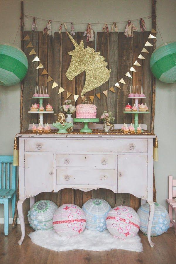 Licorne sweet table