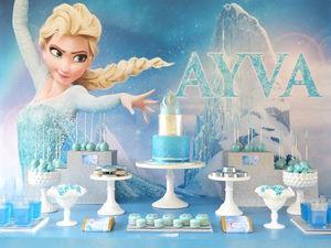 Un anniversaire Reine des Neiges pour petites princesses
