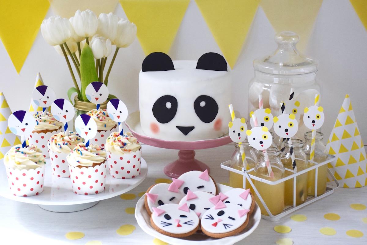 table de fete buffet enfant anniversaire animaux