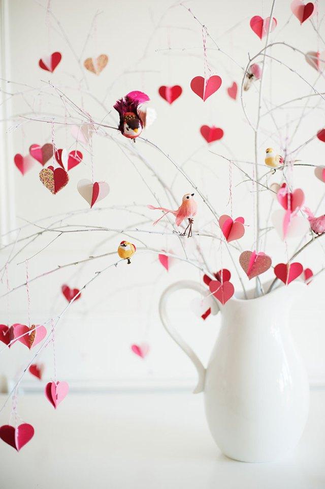 arbre à coeurs
