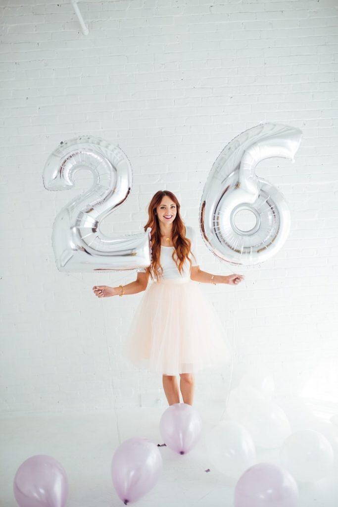 ballon anniversaire chiffre argent