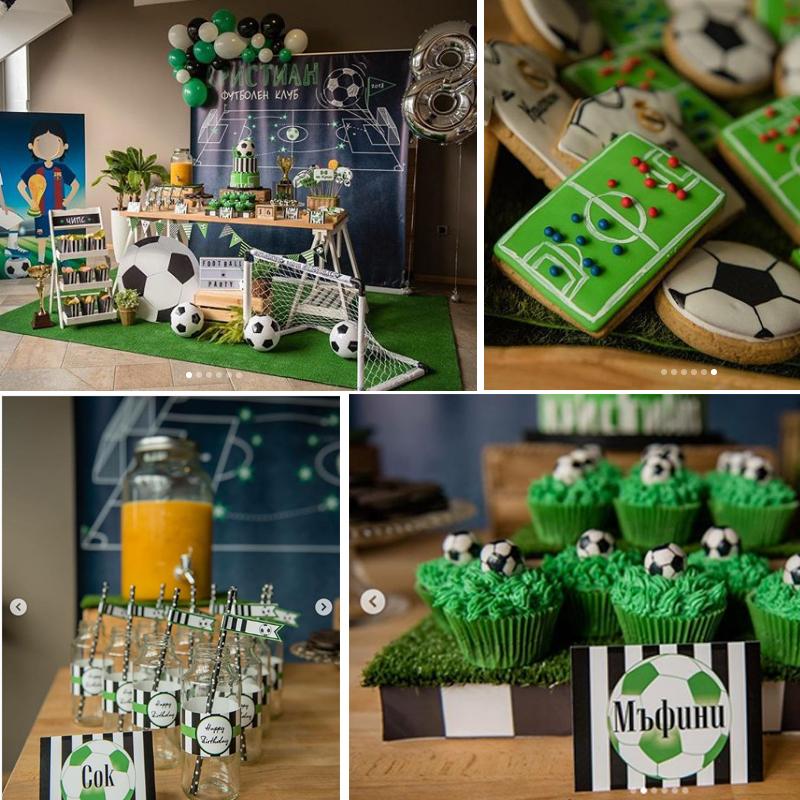 anniversaire foot deco sweet table