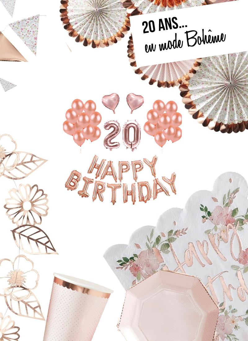 deco anniversaire 20 ans boheme