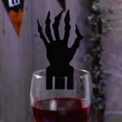 10 Décorations de verre Main Effrayante Halloween