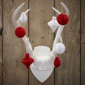 12 Mini-Boules Alvéolées Noël Rouge et Blanc