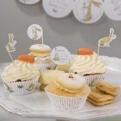 20 Pics à cupcake Lapin dans la Prairie
