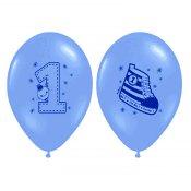 5 ballons de baudruche Basket Bleu 1 an