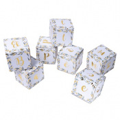 7 Cubes Déco BAPTEME Végétal - 10cm