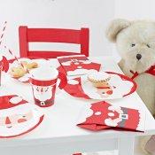 8 Gobelets en carton Père Noel avec poignée