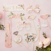Accéssoires Photobooth EVJF Rose Gold & Floral