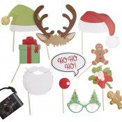 Accéssoires Photobooth Vintage Noel (x10)